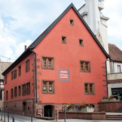 Vue de l'extérieur du Musée de l'image populaire à Pfaffenhoffen.