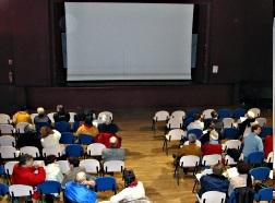 Vue de la salle du cinéclub de Phalsbourg.