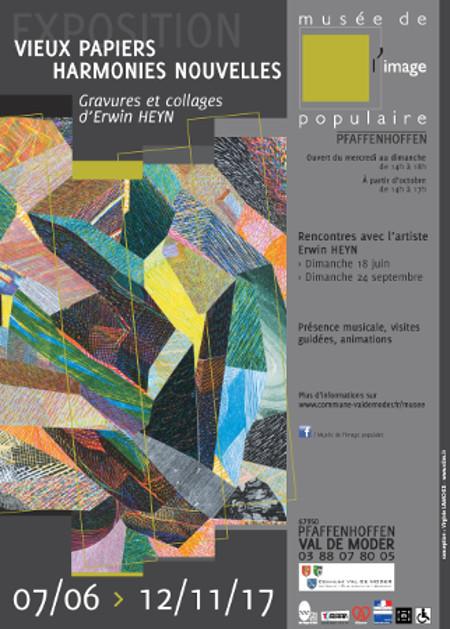 Affiche de l'exposition « Vieux Papiers Harmonies nouvelles».