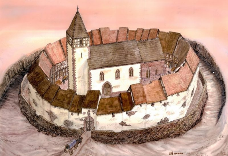 Illustration du refuge fortifié