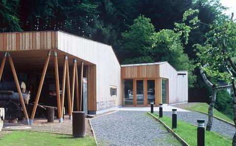 Vue de l'extérieur du Musée du Sabotier de Soucht