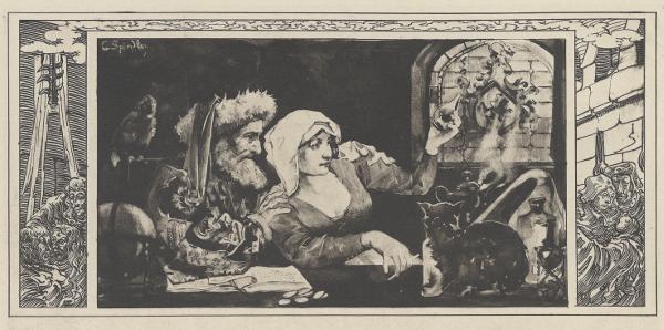 Illustration de vies des sorcières réalisé par Charles Spindler