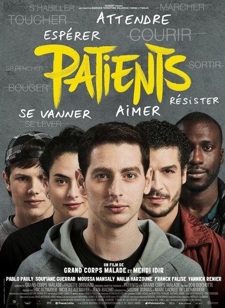 Affiche du film «Patients», réalisé par Grand corps malade et Mehdi Idir.