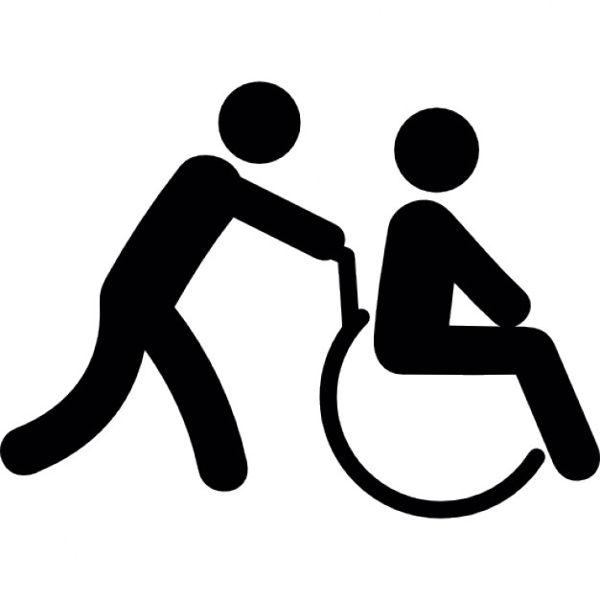 Pictogramme handicap moteur et accompagnant.