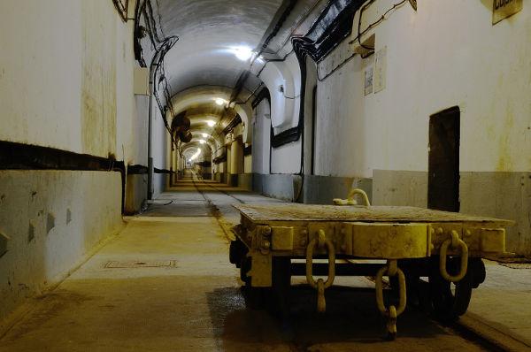 Vue de l'intérieur de l'ouvrage du four à chaux, ligne Maginot.