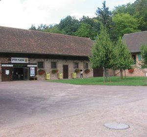 Vue de la cour du P'tit Fleck, Château de Fleckenstein.
