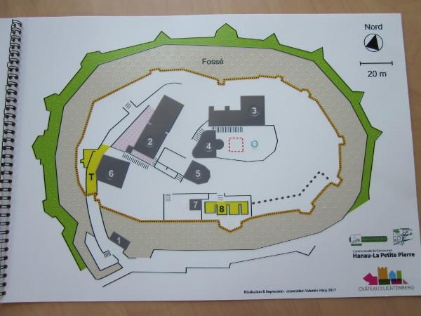 Plan de la visite tactile au Château