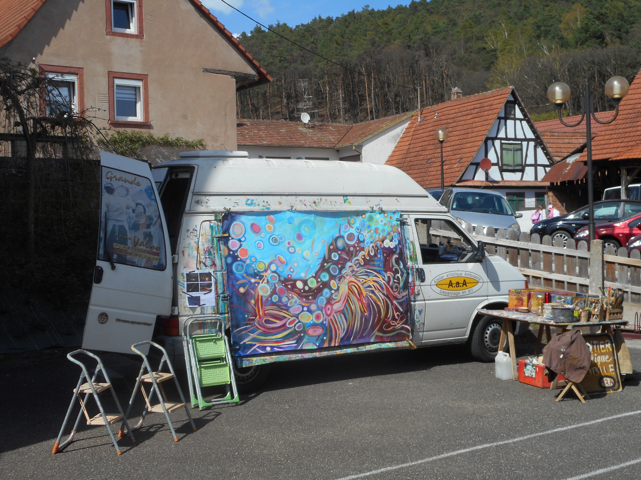 L'atelier ambulant : Performance peinture à Ofwiller
