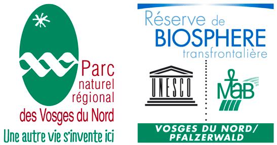 Logos : Parc naturel régionale des Vosges du Nord / Réserve de Biosphère transfrontalière